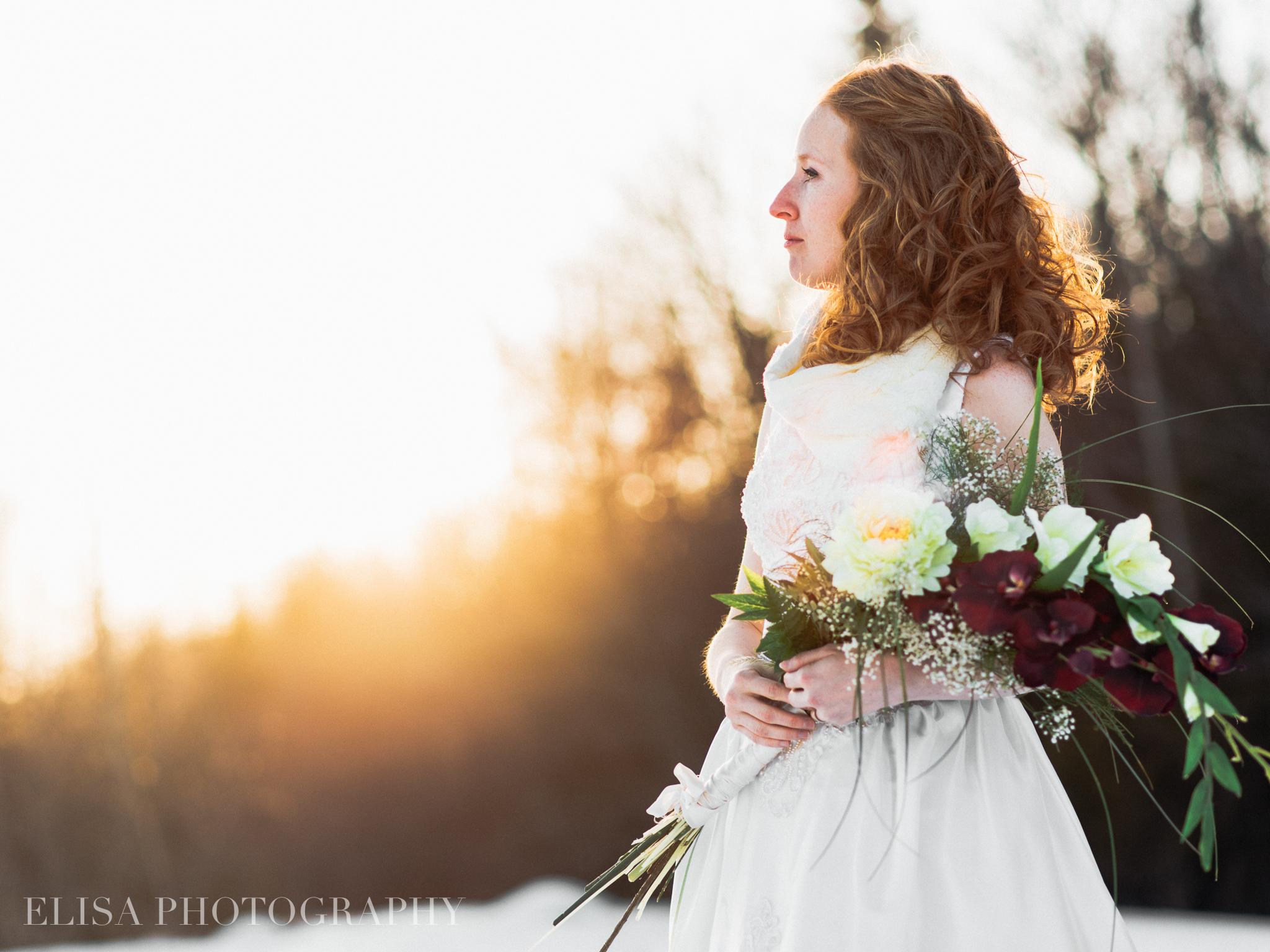 mariage en hiver à quebec photo