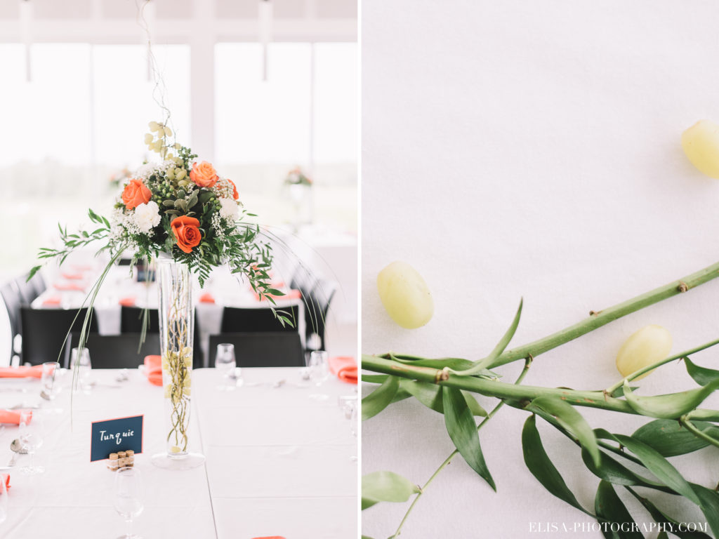 mariage-reception-rose-centre-de-table-raisins-vintage-vignoble-orpailleur-dunham-photo