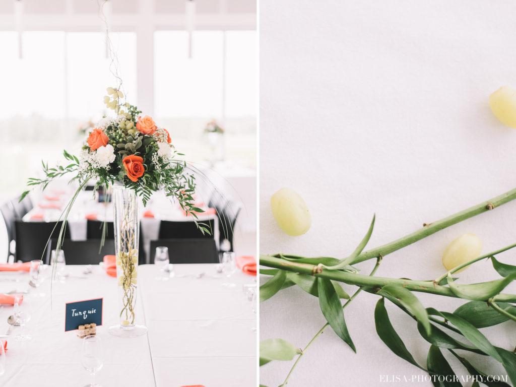 mariage-reception-rose-centre-de-table-raisins-vintage-vignoble-orpailleur-dunham-photo