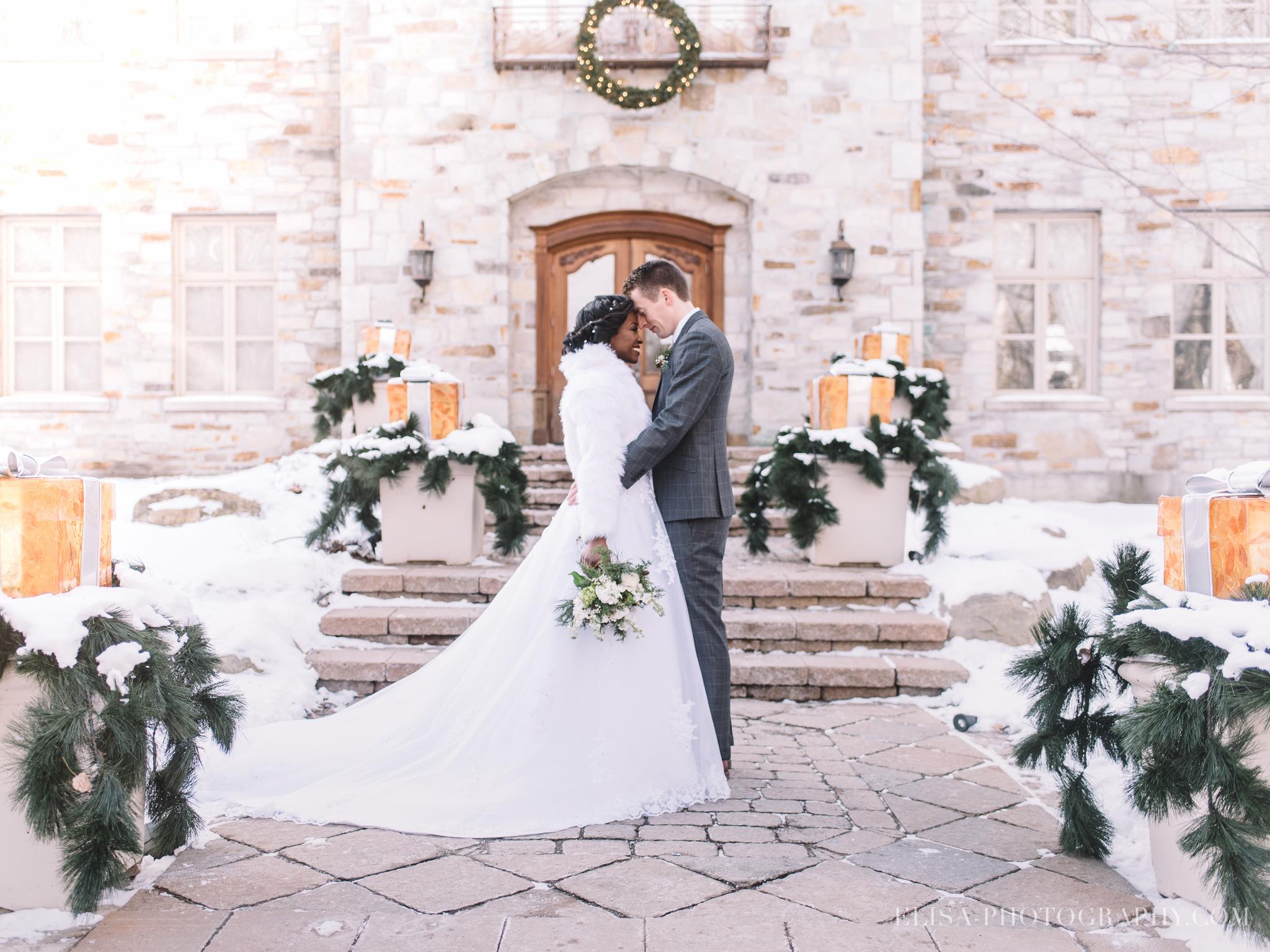 mariage quebec portrait hiver mariés noel chateau taillefer lafon photo 3354 - 8 conseils pour votre mariage en hiver