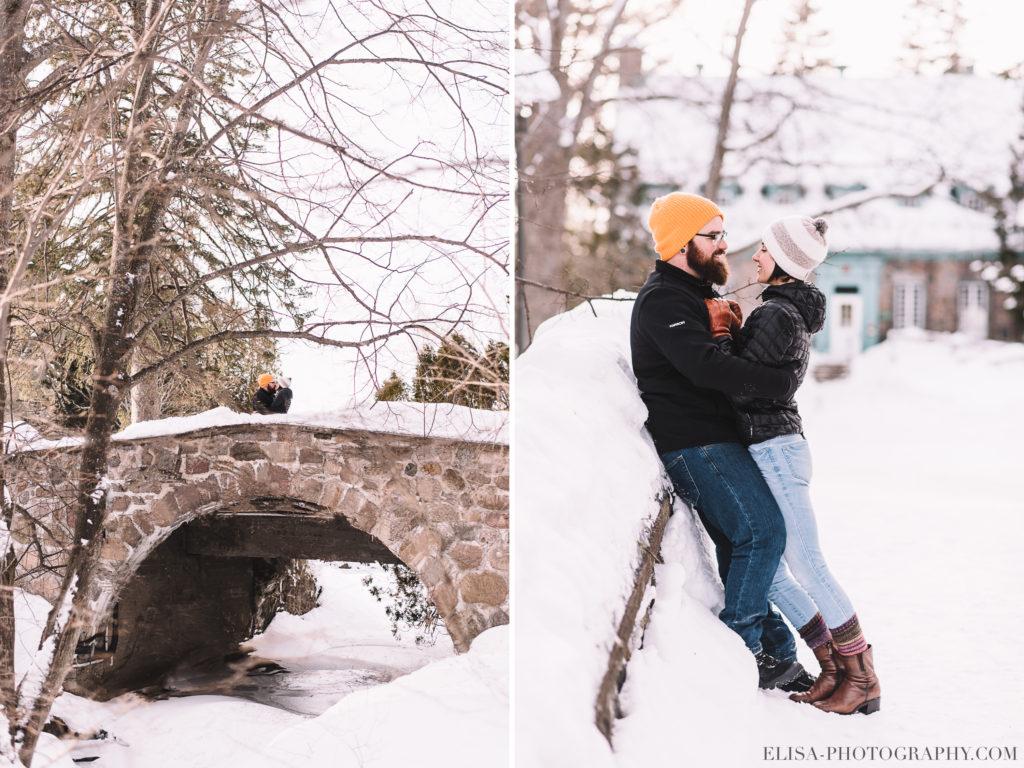 FIANCAILLES cocotte bague pont pierres hiver engagement photo 1 1024x768 - Séance fiançailles dans la neige: Audrey-Ann + Pascal