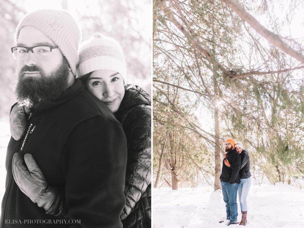 FIANCAILLES sapin ville quebec hiver winter engagement hot chocolate chocolat chaud photo 2 1024x768 - Séance fiançailles dans la neige: Audrey-Ann + Pascal