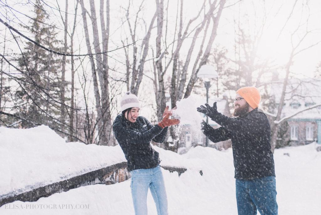 fiancailles ville quebec hiver winter engagement hot chocolate chocolat chaud photo 3 1024x684 - Séance fiançailles dans la neige: Audrey-Ann + Pascal