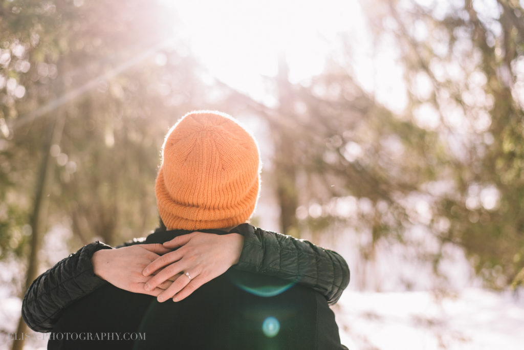 fiancailles ville quebec hiver winter engagement hot chocolate chocolat chaud photo 6058 1024x684 - Séance fiançailles dans la neige: Audrey-Ann + Pascal