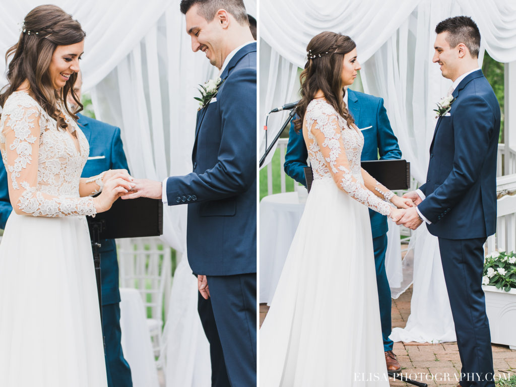 MARIAGE bague échange mariés auberge des gallants photo 1924 1024x768 - Mariage bohème sur le bord de l'eau, Rigaud: Natacha & Pierre-Alexandre