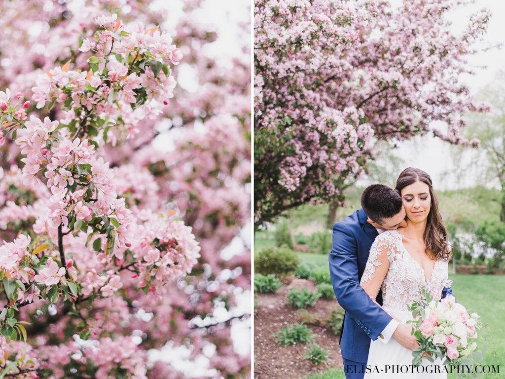 MARIAGE portrait mariés cerisiers auberge des gallants photo 1924 1 1024x768 - Mariage bohème sur le bord de l'eau, Rigaud: Natacha & Pierre-Alexandre