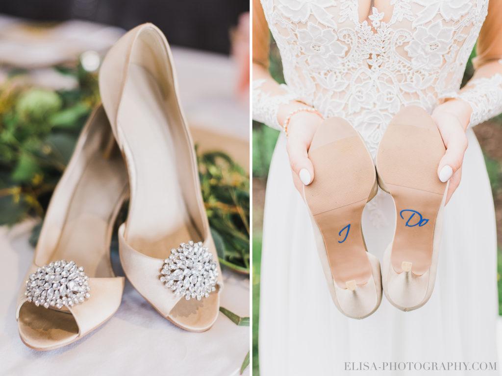 MARIAGE souliers mariée I Do auberge des gallants photo 1924 1024x768 - Mariage bohème sur le bord de l'eau, Rigaud: Natacha & Pierre-Alexandre