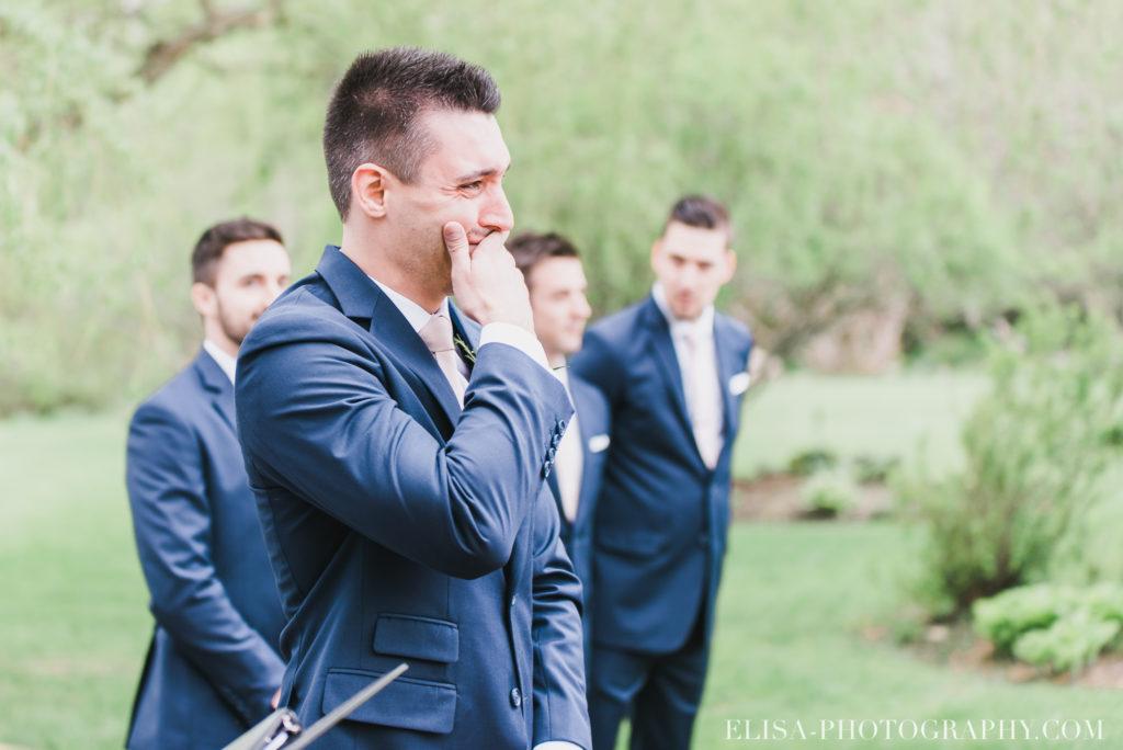 mariage classique marié pleure cérémonie auberge des gallants photo 2329 1024x684 - Mariage bohème sur le bord de l'eau, Rigaud: Natacha & Pierre-Alexandre
