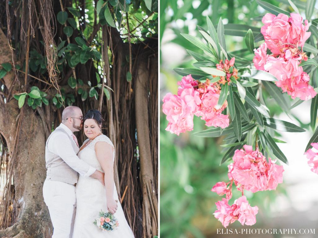 MARIAGE de rêve à destination fleurs rose couple liane grand bahia principe jamaïque photo 6099 1024x768 - Un mariage de rêve à destination de la Jamaïque: Mindy & Mathieu