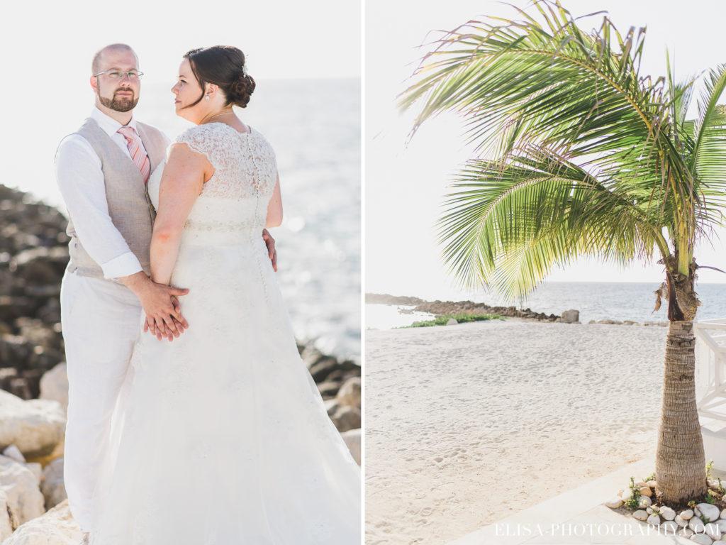 MARIAGE de rêve à destination portrait des mariés palmier mer grand bahia principe jamaïque photo 6099 1024x768 - Un mariage de rêve à destination de la Jamaïque: Mindy & Mathieu
