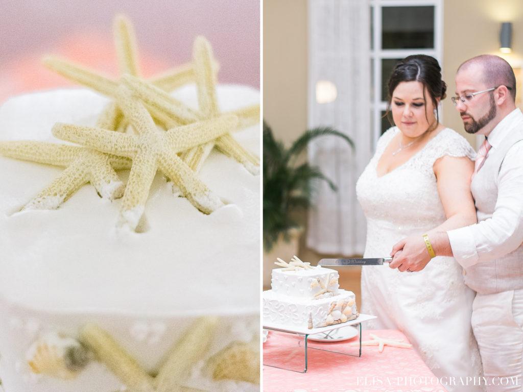 MARIAGE de rêve à destination réception coupe gâteau étoile de mer grand bahia principe jamaïque photo 6099 1 1024x768 - Un mariage de rêve à destination de la Jamaïque: Mindy & Mathieu