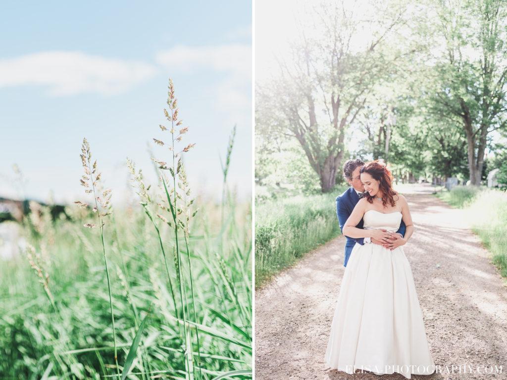 MARIAGE portrait des mariés champs le germain charlevoix photo 1024x768 - Mariage en toute élégance à l'hôtel Le Germain de Charlevoix: Véronique & Eric