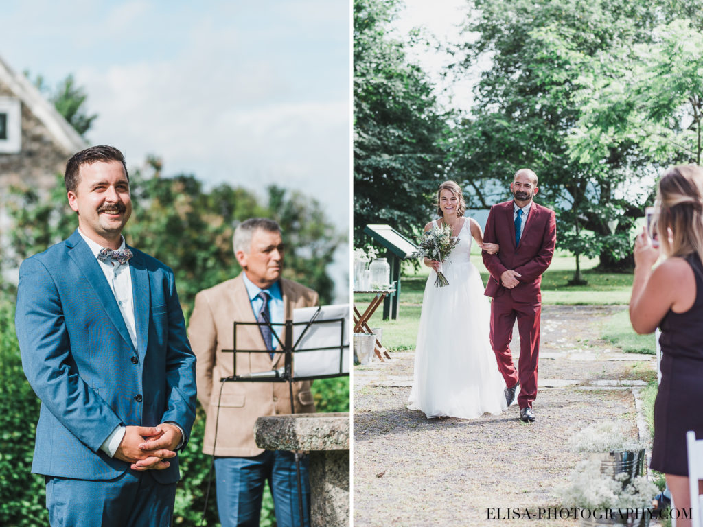 PHOTO mariage cérémonie arrivée de la mariée vieux presbitère de batiscan 1024x768 - Mariage au vieux presbitère de Batiscan: Cindy & Dany