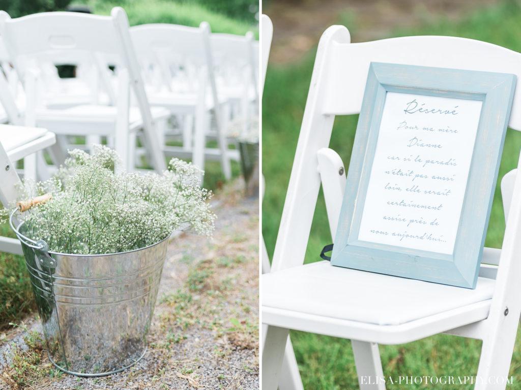 PHOTO mariage cérémonie fleurs cadre personne décès parent vieux presbitère de batiscan 1024x768 - Mariage au vieux presbitère de Batiscan: Cindy & Dany