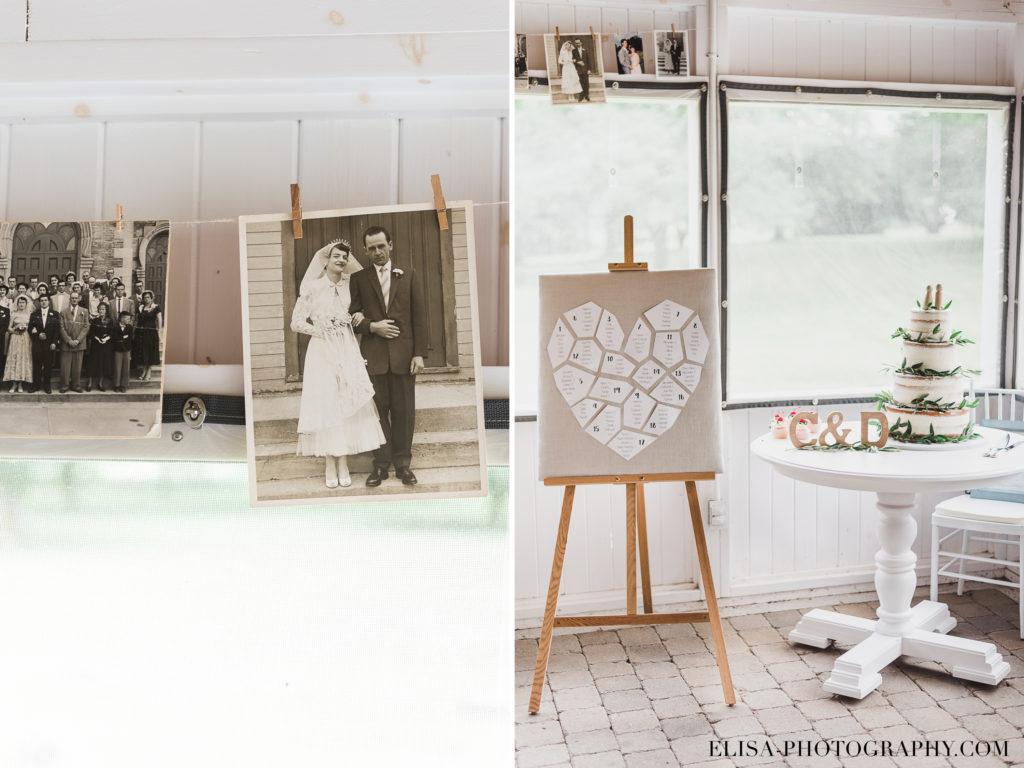 PHOTO mariage réception photos banderole plan de table vieux presbitère de batiscan 1024x768 - Mariage au vieux presbitère de Batiscan: Cindy & Dany