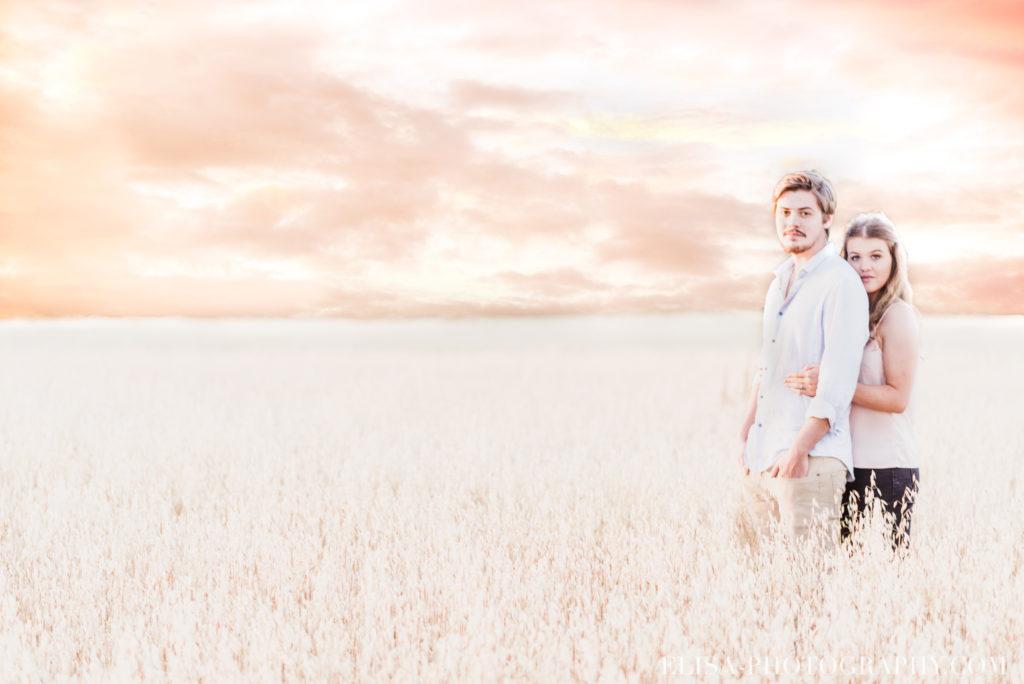 fiançailles champs blé ile orléans photos  1024x684 - Fiançailles à l'île d'Orléans: Claudia + Jack