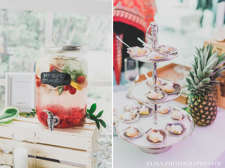 PHOTO MARIAGE COCKTAIL fruits de mer pot a jus vintage deux gourmandes domaine prive estate bord de l eau bouquet mariee cadeau - Mariage sur un domaine privé au bord de l'eau: Emmanuelle & Marc-Antoine