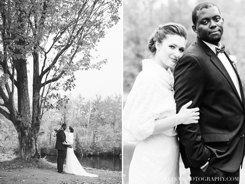 PHOTO MARIAGE QUEBEC GOLF CAP ROUGE ERABLE PORTRAIT DE COUPLE NOIR ET BLANC - Mariage au Golf de Cap-Rouge, ville de Québec: Stéphanie & William