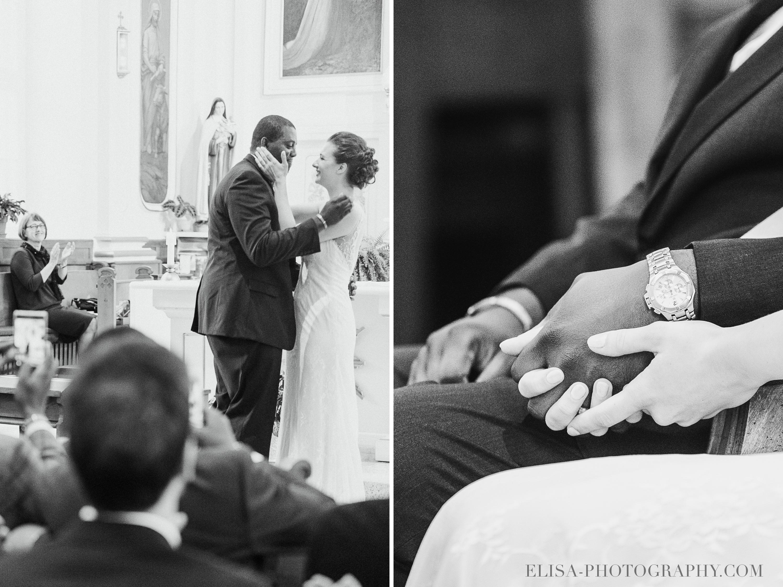 PHOTO MARIAGE VILLE DE QUEBEC GOLF CAP ROUGE EGLISE CEREMONIE BAISER MAINS AMOUR - Mariage au Golf de Cap-Rouge, ville de Québec: Stéphanie & William