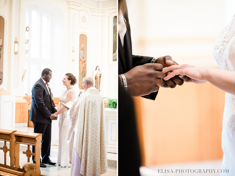 PHOTO MARIAGE VILLE DE QUEBEC GOLF CAP ROUGE EGLISE CEREMONIE ECHANGE DES BAGUES VOEUX - Mariage au Golf de Cap-Rouge, ville de Québec: Stéphanie & William
