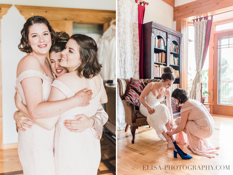 photo mariage a la montagne quebec demoiselles honneur preparatifs - Mariage à la montagne au domaine Tomali-Maniatyn