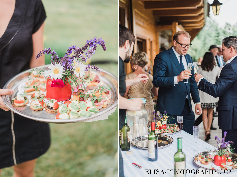 photo mariage a la montagne quebec domaine tomali maniatin cocktail hors d oeuvre - Mariage à la montagne au domaine Tomali-Maniatyn