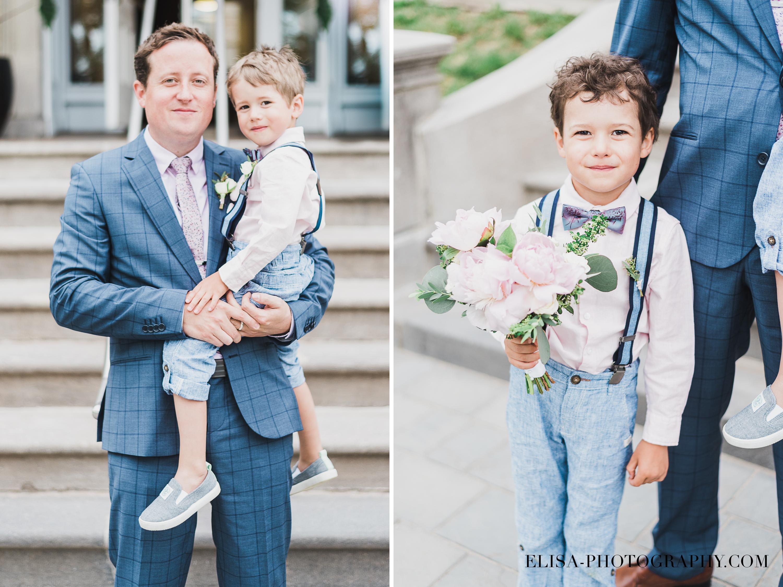 photo mariage domaine cataraqui famile garcon bouquet papa marie - Mariage d'inspiration anglaise au domaine Cataraqui