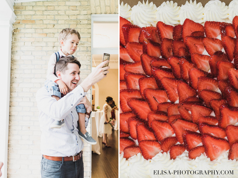 photo mariage domaine cataraqui gateau fraises cocktail dinatoire - Mariage d'inspiration anglaise au domaine Cataraqui