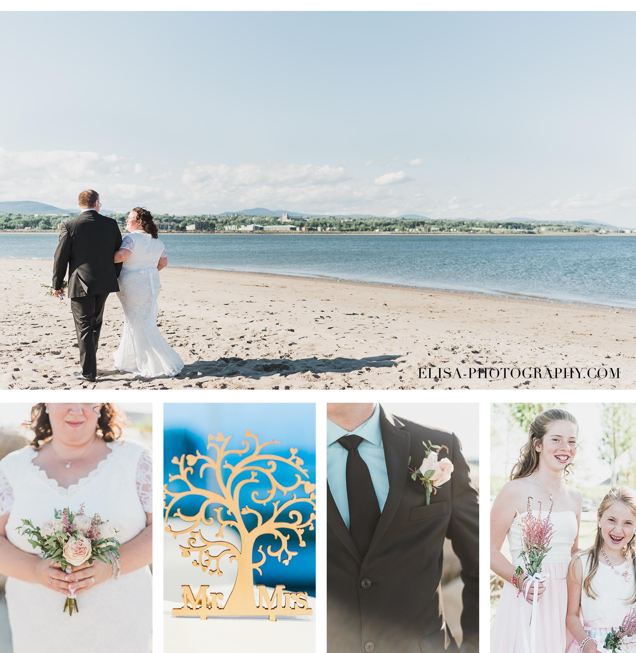 mariage a la plage de la baie de beauport