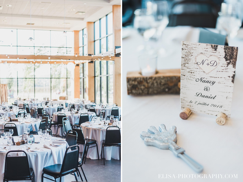 photo mariage baie beauport salle reception centre de table lumineuse - Mariage à la plage de la baie de Beauport