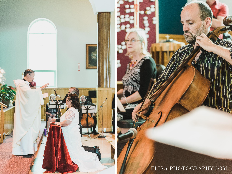 photo mariage ceremonie eglise st emile benediction violoncelle - Mariage à la plage de la baie de Beauport