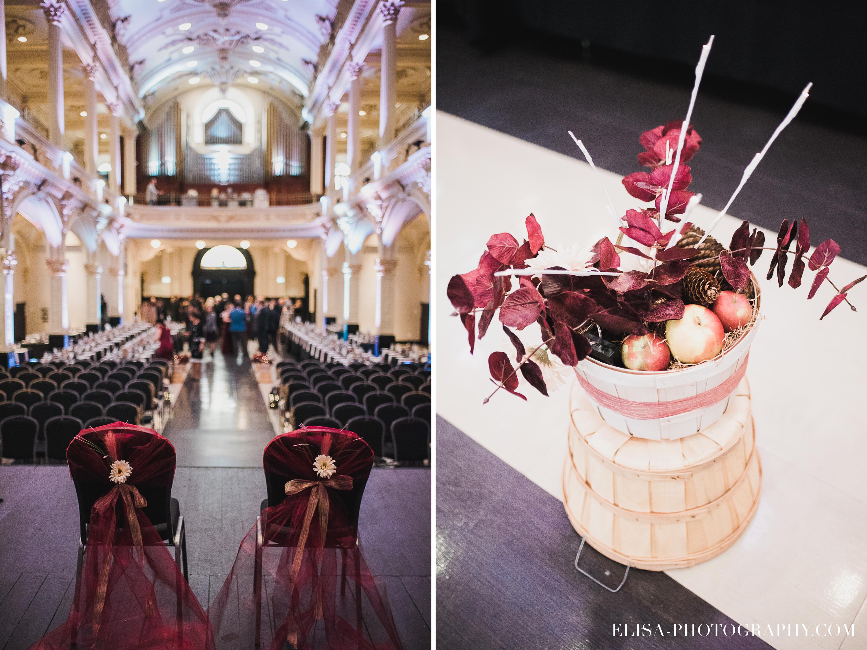 photo mariage espace saint gregoire ceremonie beauport rouge automne 1 - Mariage à saveur automnale à l'Espace Saint-Grégoire