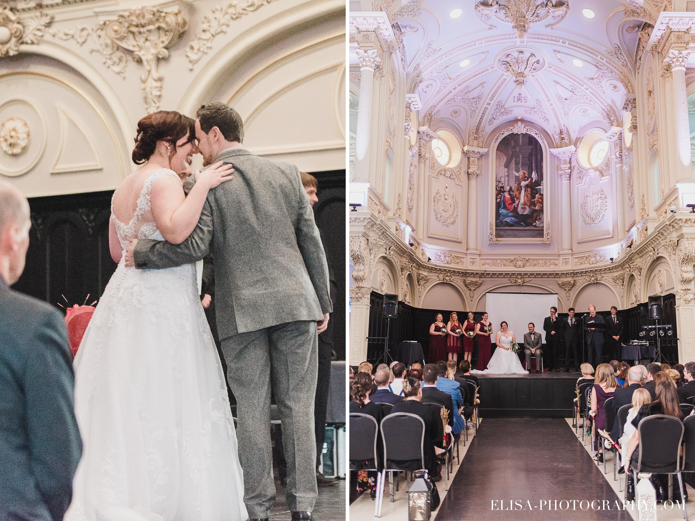 photo mariage espace saint gregoire ceremonie beauport rouge automne 3 - Mariage à saveur automnale à l'Espace Saint-Grégoire