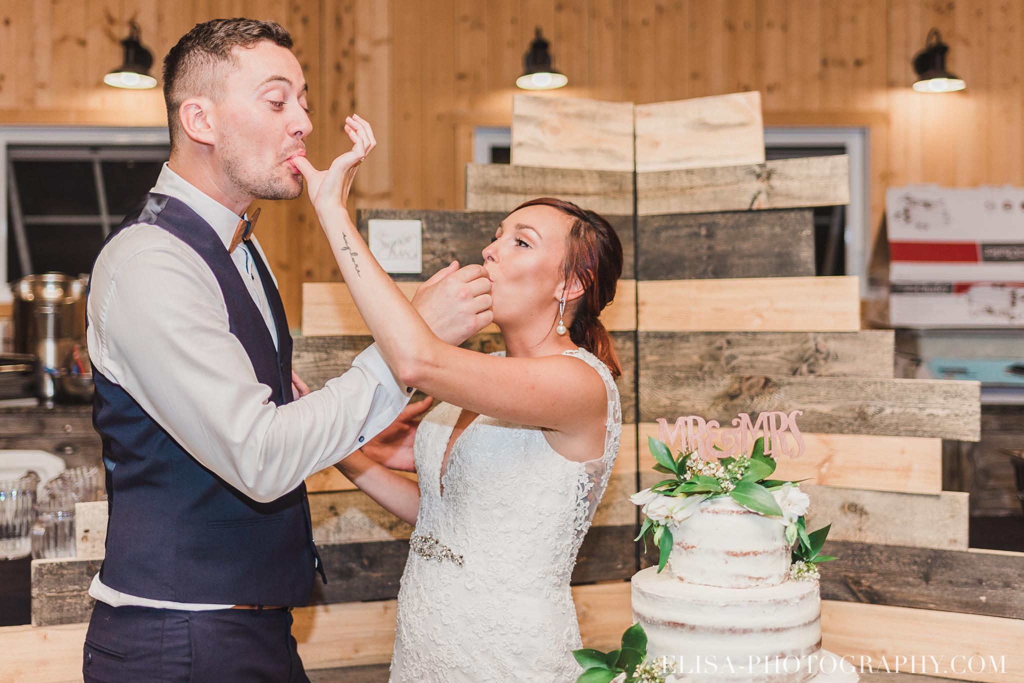 photo mariage ferme genest reception verger pommier quebec coupe gateau 2319 - Smoke bomb et mariage dans les vergers de la Ferme Genest à Saint-Nicolas