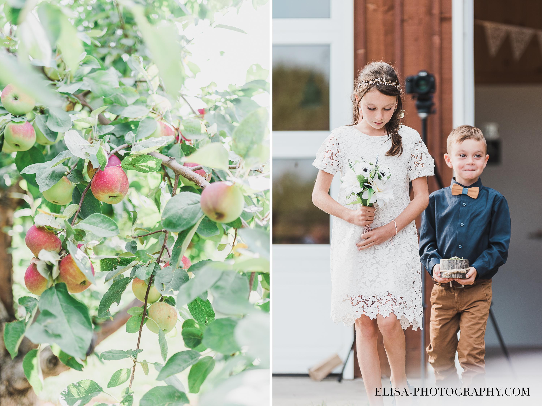 photo mariage ferme genest verger pommier page bouquetiere - Smoke bomb et mariage dans les vergers de la Ferme Genest à Saint-Nicolas
