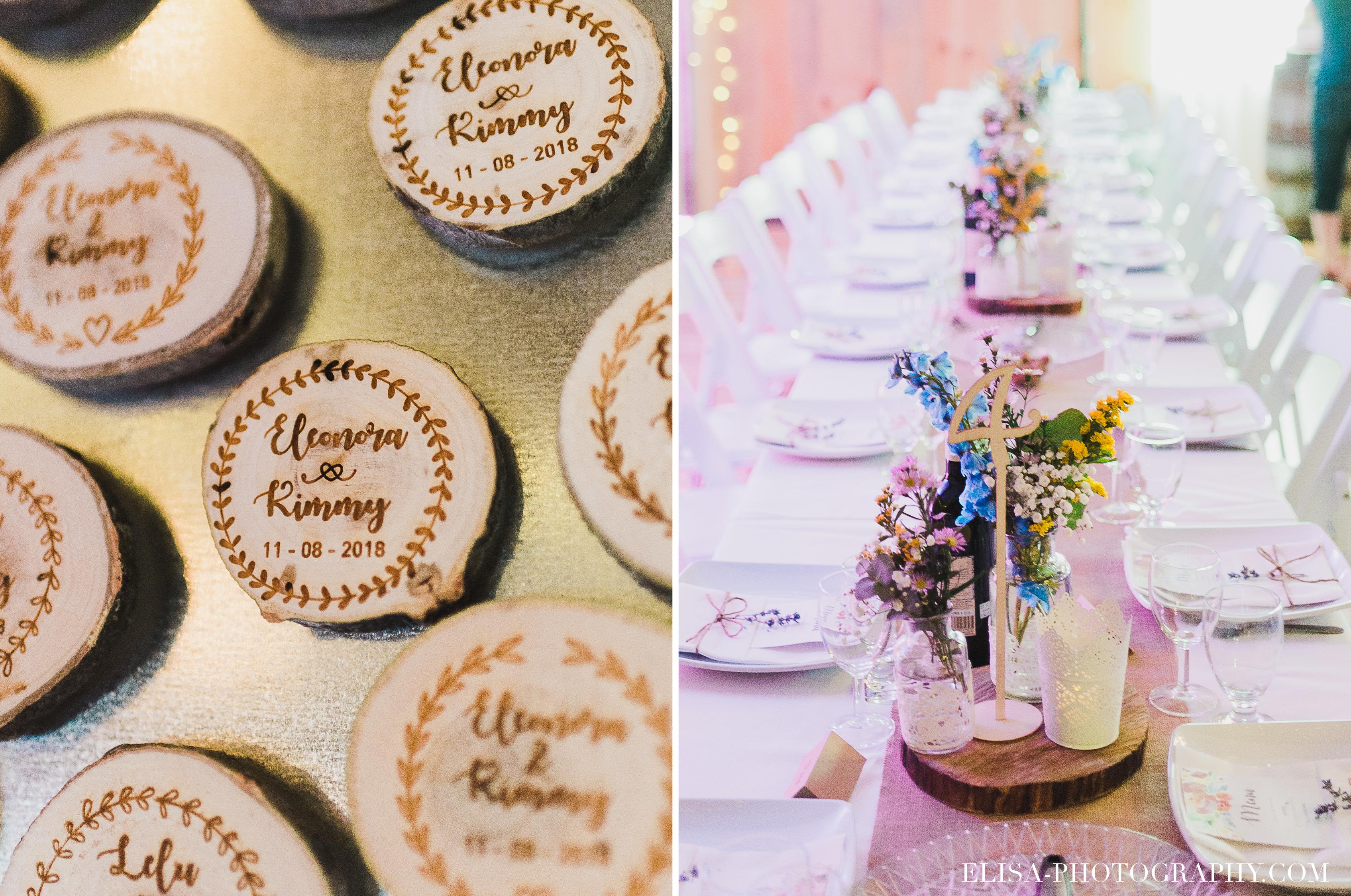 photo mariage grange rouge quebec cadeaux invites aimants centres de table colores - Mariage coloré à la grange rouge de Brompton