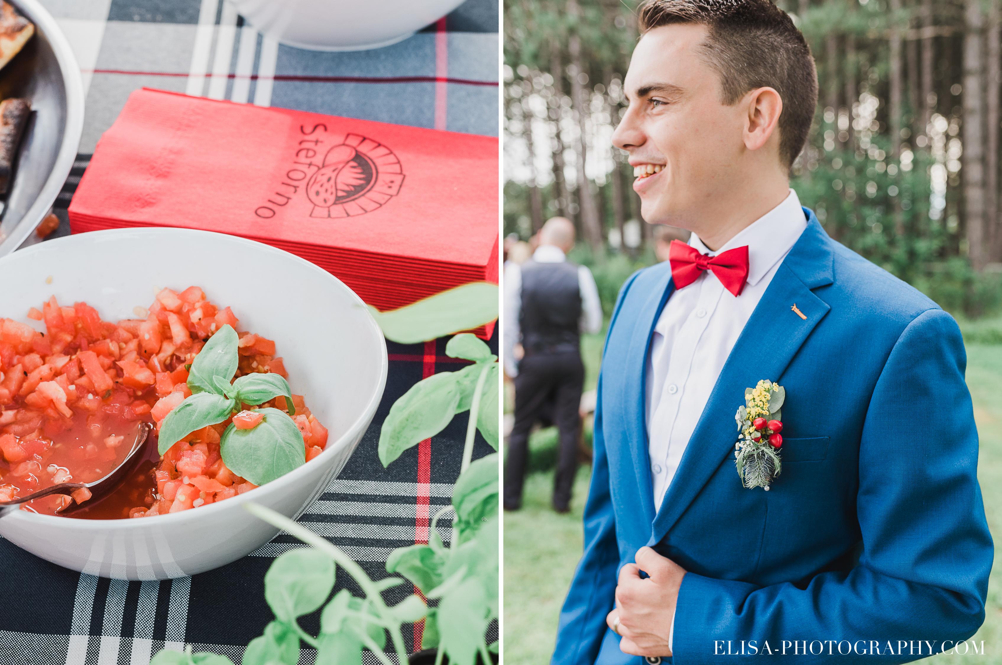 photo mariage grange rouge quebec cocktail steforno bruschetta - Mariage coloré à la grange rouge de Brompton