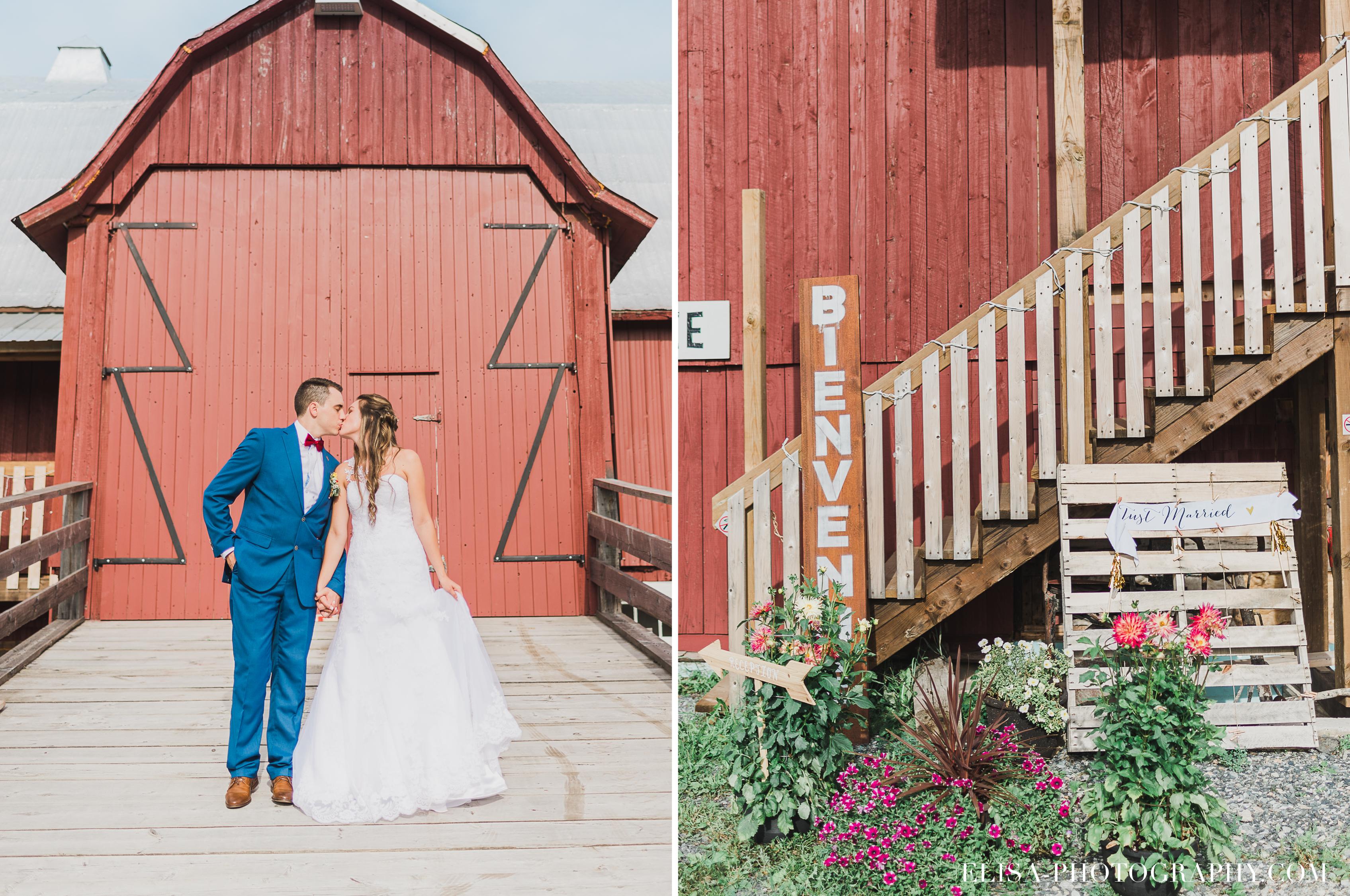 photo mariage grange rouge quebec cocktail - Mariage coloré à la grange rouge de Brompton