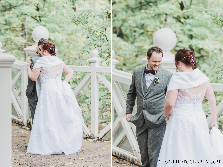 photo mariage quebec automne first look domaine maizeret - Mariage à saveur automnale à l'Espace Saint-Grégoire