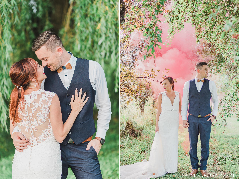 photo mariage verger ferme genest quebec pommier smoke bomb 1 - Smoke bomb et mariage dans les vergers de la Ferme Genest à Saint-Nicolas
