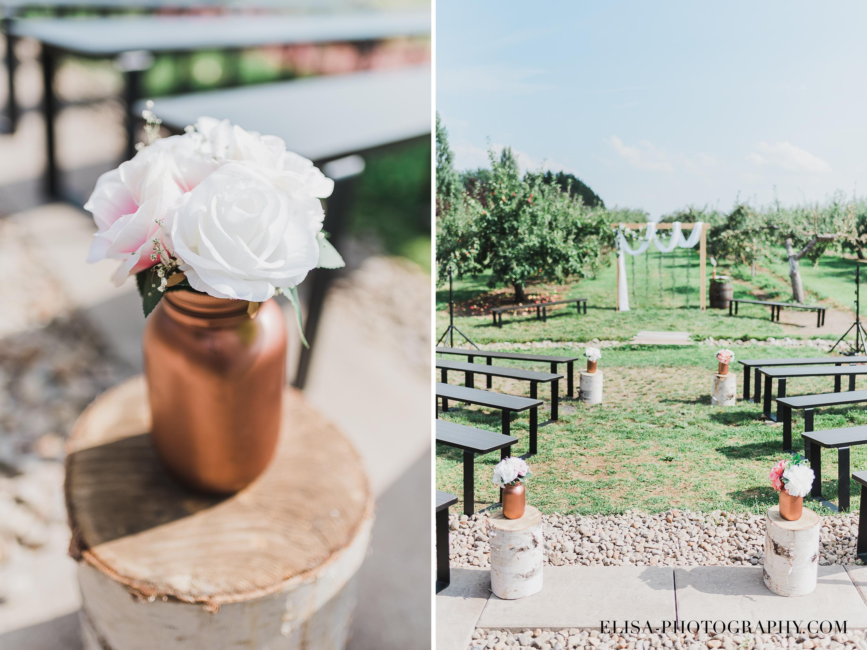 photo mariage verger pommier ferme genest ceremonie - Smoke bomb et mariage dans les vergers de la Ferme Genest à Saint-Nicolas