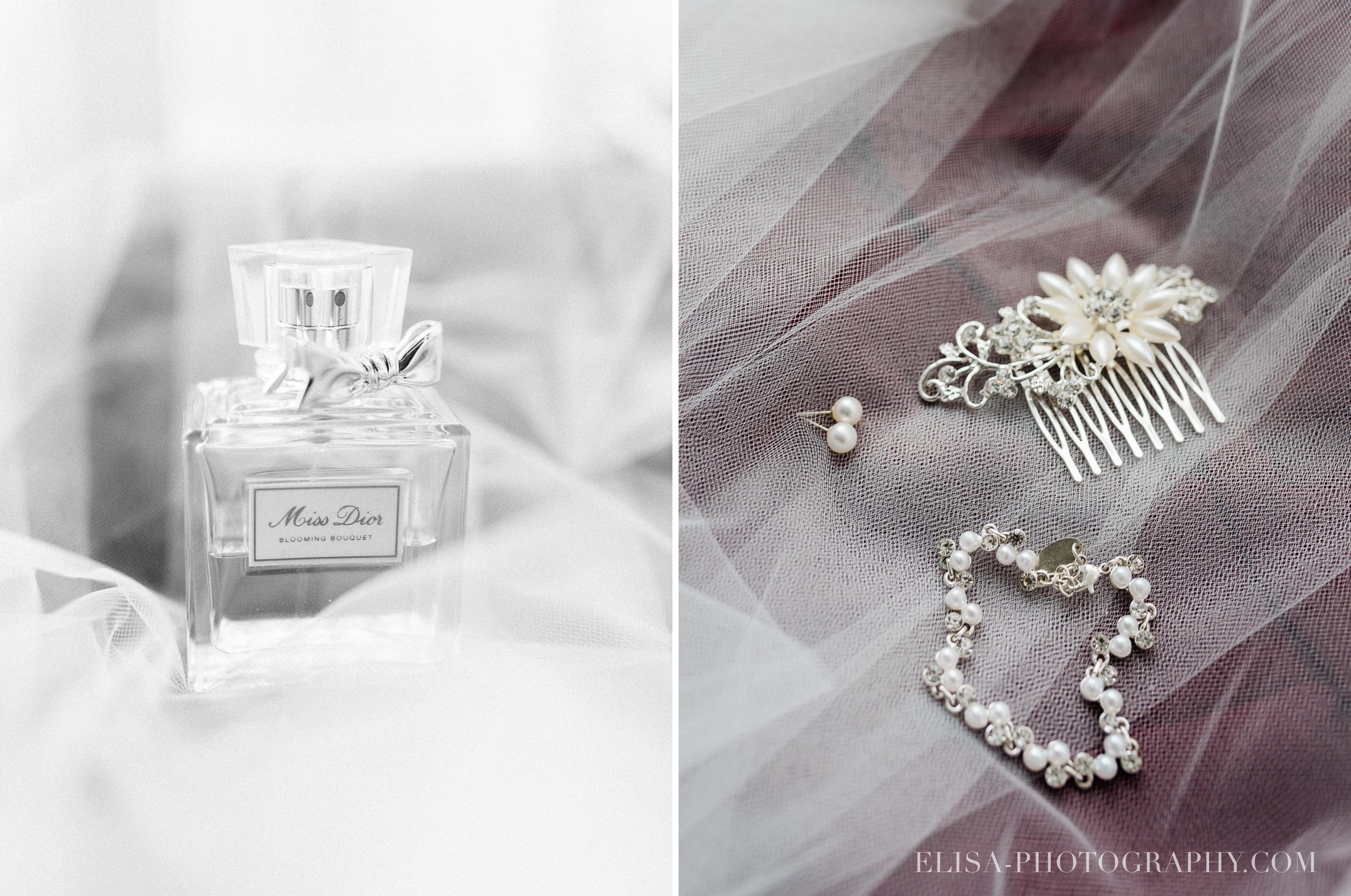 photo mariage auberge saint antoine elisa photographie quebec preparatifs de la mariee parfum bracelet cheveux accessoires - Mariage élégant et discret au coeur du magnifique Domaine Cataraqui, Québec