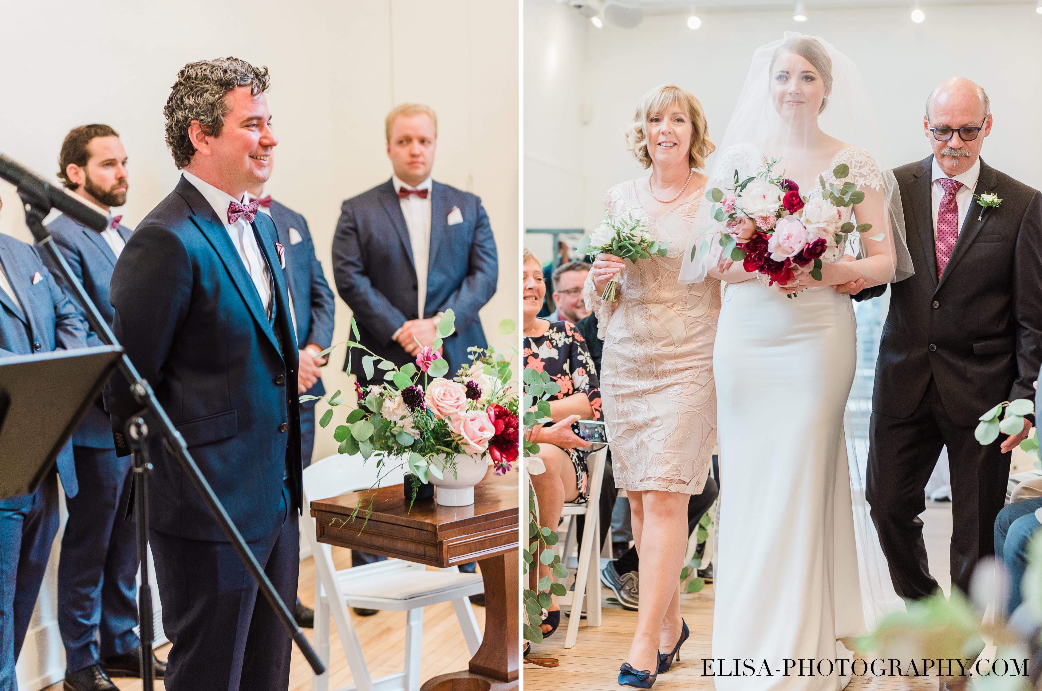 photo mariage ceremonie fleurs table signature domaine cataraqui elisa photographe bourgogne blush atelier peintre - Mariage élégant et discret au coeur du magnifique Domaine Cataraqui, Québec