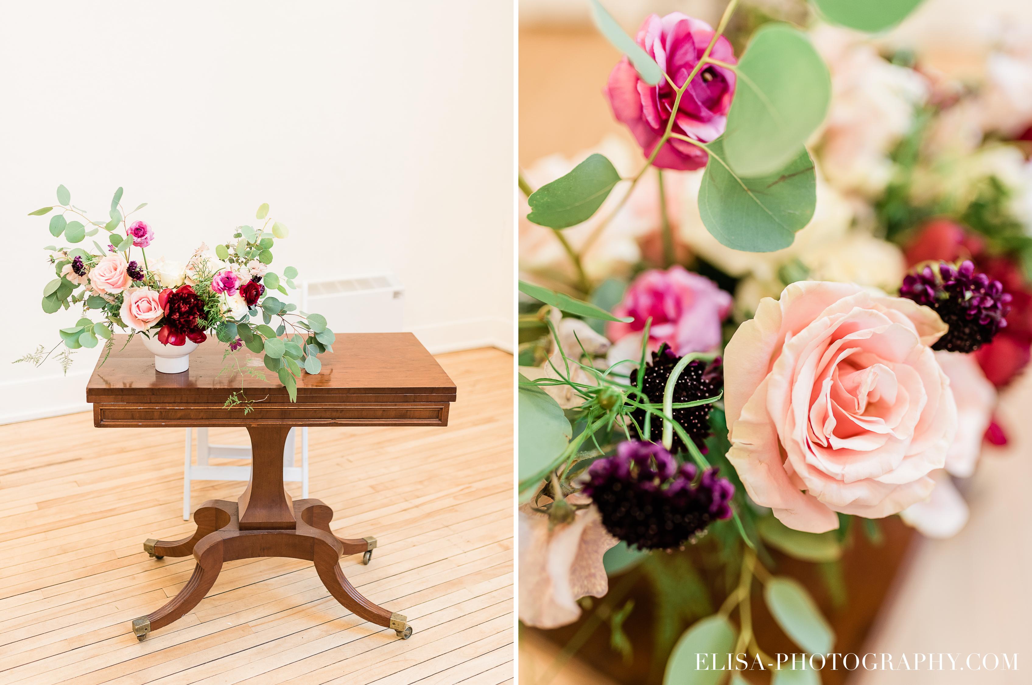 photo mariage ceremonie fleurs table signature domaine cataraqui elisa photographe bourgogne blush - Mariage élégant et discret au coeur du magnifique Domaine Cataraqui, Québec