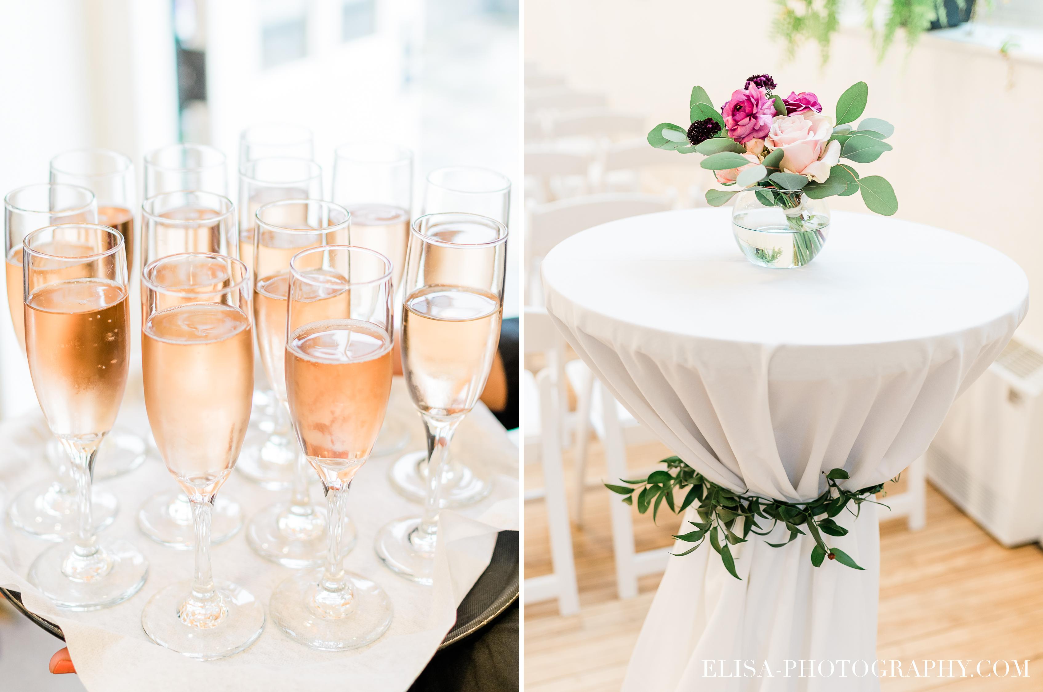 photo mariage cocktail fleurs table domaine cataraqui elisa photographe - Mariage élégant et discret au coeur du magnifique Domaine Cataraqui, Québec