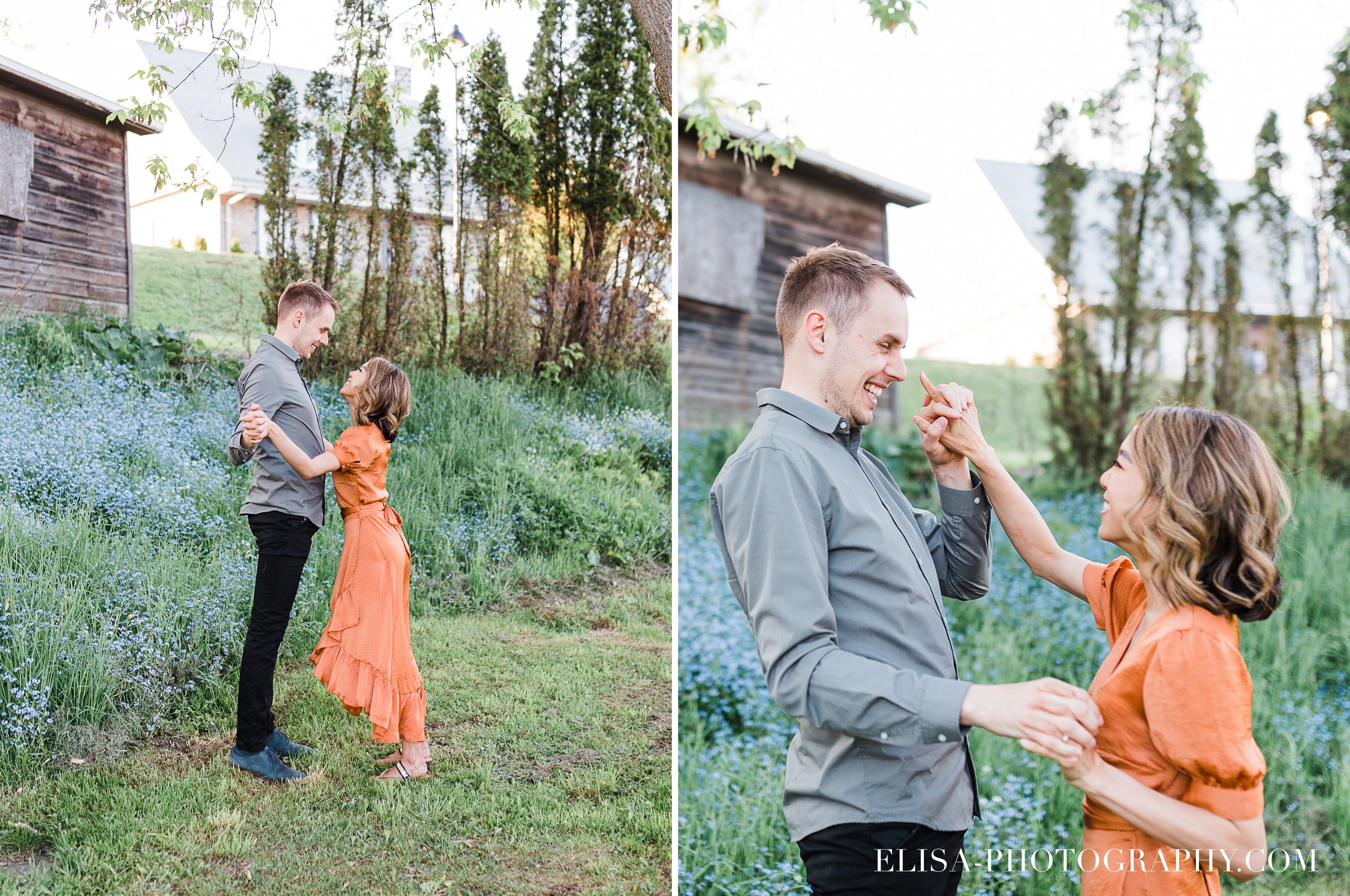 photos couple engagement fiancailles ville quebec canada manoir montmorenc champs elisa photographe mariage - Séance photo de couple au manoir Montmorency à Québec