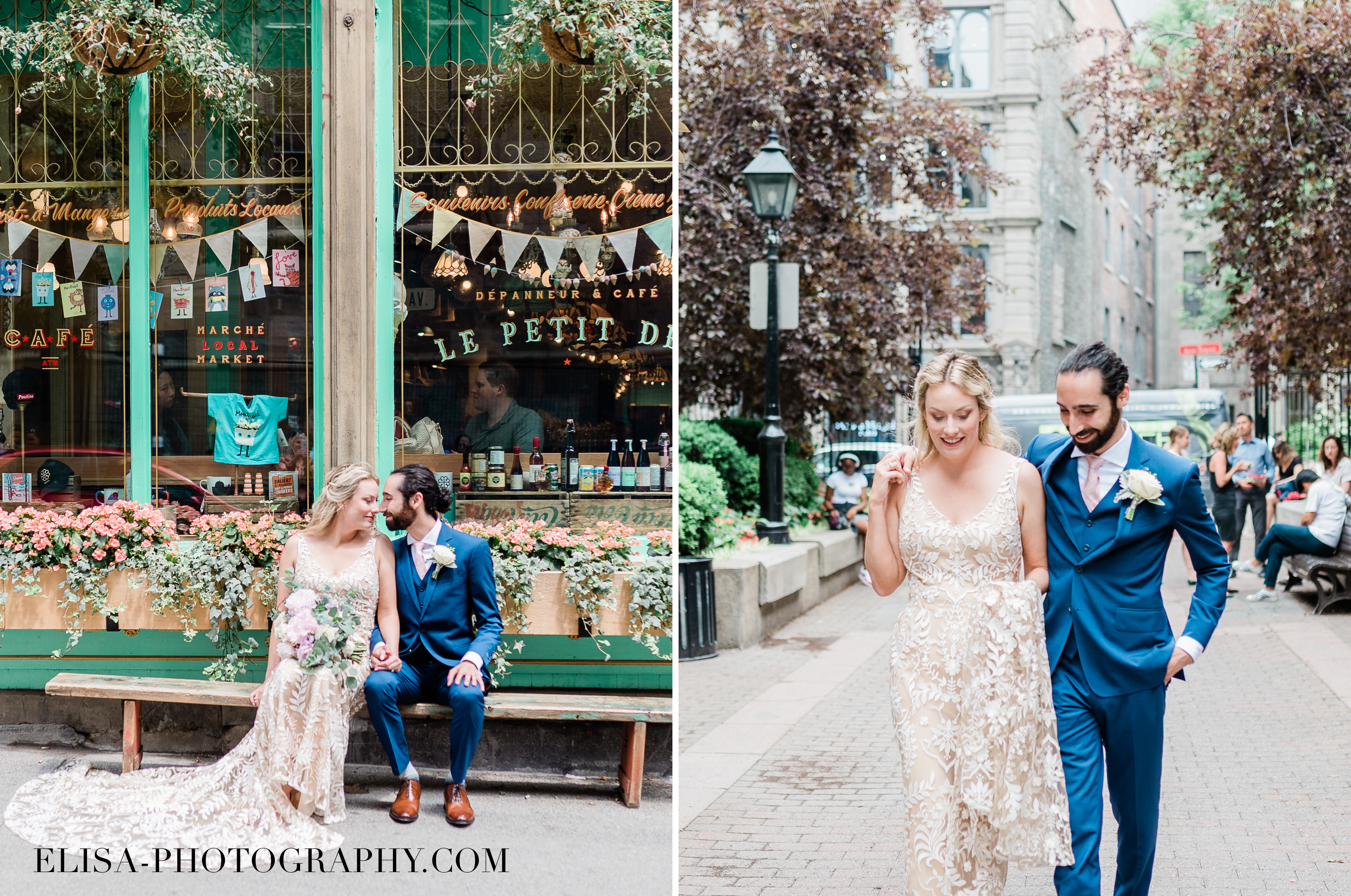 PHOTO mariage downtown montreal urban portrait urbain elisa photographe - An elegant wedding under the marquee at the Forest and Stream Club in Montreal