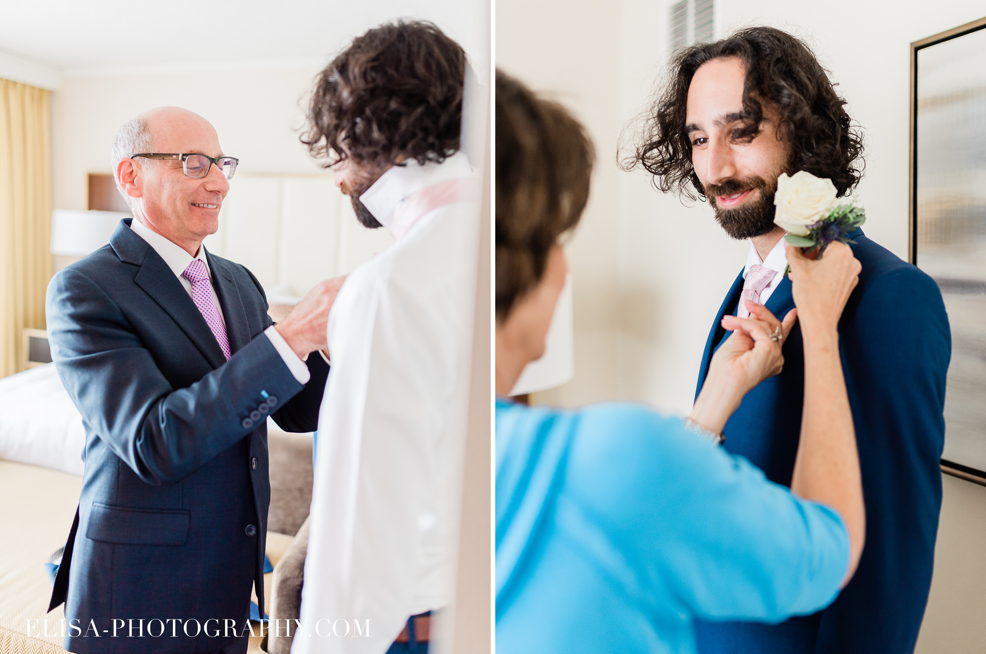 PHOTO mariage hotel omni montreal preparatifs marie groom elisa photographe - An elegant wedding under the marquee at the Forest and Stream Club in Montreal