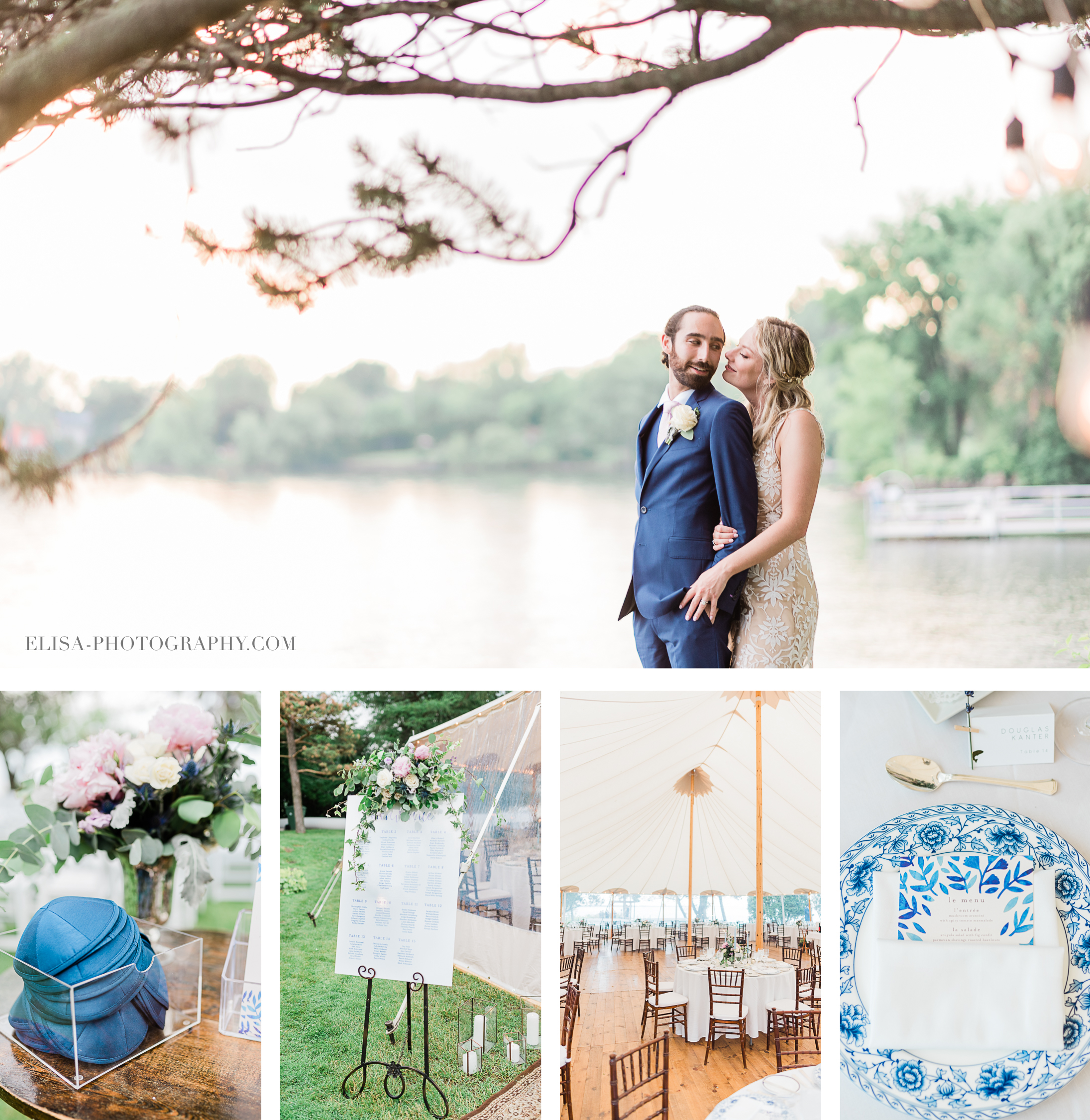 photo mariage juif montreal forest stream club elisa photographer - An elegant wedding under the marquee at the Forest and Stream Club in Montreal